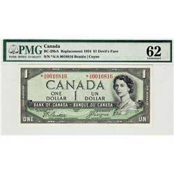 1954 $1 BC-29bA *A/A0016816 PMG UNC62, rare note.