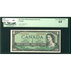 1954 $1 BC-37bA #*DO0539423, PCGS Choice UNC64.