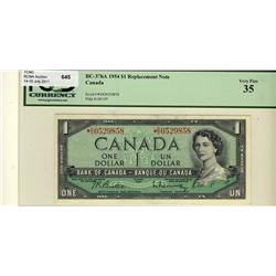 1954 $1 BC-37bA *D/O0529858 PCGS VF35