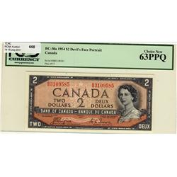 1954 $2 BC-30a B/B3109585 PCGS UNC63PPQ
