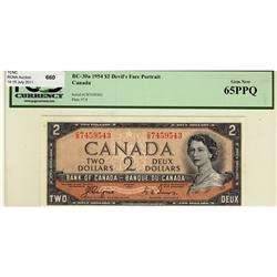 1954 $2 BC-30a C/B7459543 PCGS UNC65PPQ