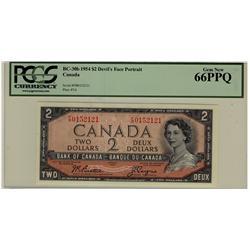 1954 $2 BC-30b F/B0152121 PCGS UNC66PPQ
