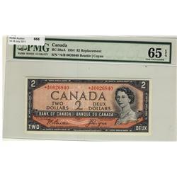 1954 $2 BC-38aA *A/B0026840 PMG UNC65EPQ