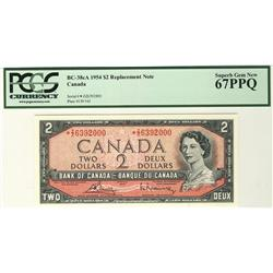 1954 $2 BC-38cA #*ZZ6392000 PCGS UNC67PPQ.  An absolute gem and rarity.  Should be viewed.