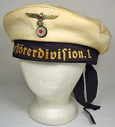 WW2 GERMAN NAZI NAVAL SHIP DONALD DUCK CAP - Insid