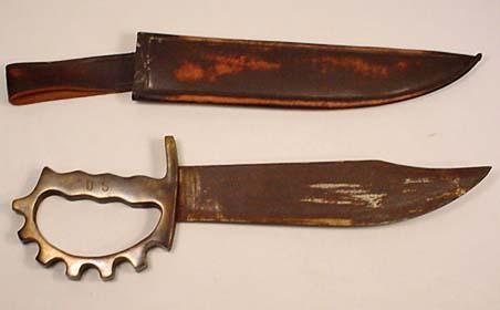 WW2 USMC MARINE CORPS BRASS KNUCKLE COMBAT KNIFE W