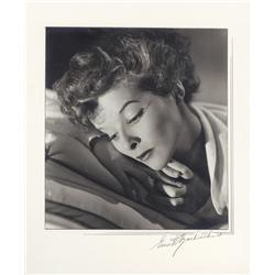 Katharine Hepburn oversize exhibition portrait from Spitfire by Ernest A. Bachrach