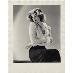 Katharine Hepburn oversize gallery portrait from A Woman Rebels by Ernest A. Bachrach