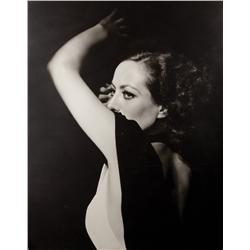 Joan Crawford mural portrait from Grand Hotel for Dreams For Sale exhibit by George Hurrell
