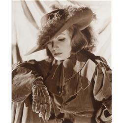Greta Garbo mural portrait from Queen Christina  for Dreams For Sale exhibit by Sinclair Bull