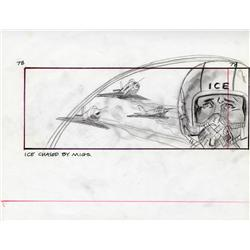 Top Gun storyboard artwork