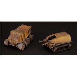 Two miniature Colony vehicles from Aliens