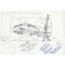 James Cameron hand-drawn storyboard of escape from atmospheric processor for Aliens