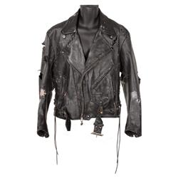 "Arnold Schwarzenegger ""The Terminator"" leather jacket and leather glove from The Terminator"
