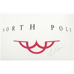 """The Santa Clause II prop Santa's """"clause"""" card signed by Tim Allen"""