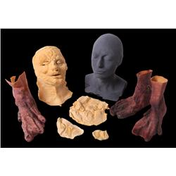 Collection of on-screen items and original foam castings of BrundleFly from The Fly