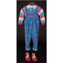 """Dwarf actor-worn """"Chucky"""" costume with rubber shoes from Seed of Chucky"""