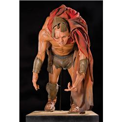 "Screen-used hero ""Ephialtes"" animatronic head and costume from 300"