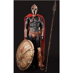 Spartan costume with shield, sword and spear from 300