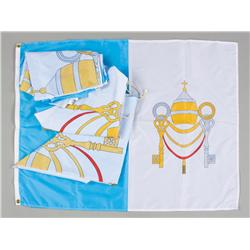 Collection of Papal flags from Angels & Demons