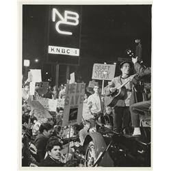 Collection of photos & negatives from the 1968 Caltech student protest to keep Star Trek on the air