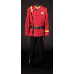 Complete maroon uniform with George Takei shirt and pants from Star Trek II-VI
