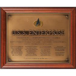 U.S.S. Enterprise-D commissioning plaque from Star Trek VII: Generations