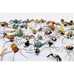Large collection of bugs from Oogie Boogie death sequence from The Nightmare Before Christmas