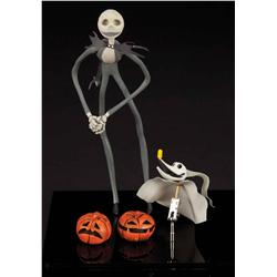 Pair of puppets from The Nightmare Before Christmas