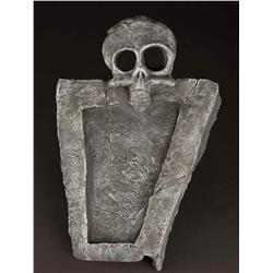 Screen-used full-scale skeleton Halloween Town gravestone from The Nightmare Before Christmas