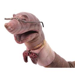 Fully articulated hero earth worm puppet from James and the Giant Peach