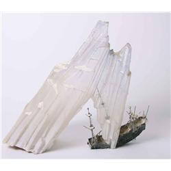 Iceberg and miniature pirate ship from James and the Giant Peach
