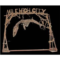 """""""Mile High"""" city sign from Waterworld"""