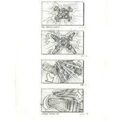 Original storyboards of opening spaceship crash sequence from Pitch Black