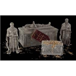 14th century European artifacts from the treasure room in National Treasure