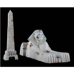 Luxor Sphinx and Obelisk from Resident Evil: Extinction