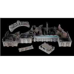 Venetian Hotel and Casino ruins filming miniature from Resident Evil: Extinction
