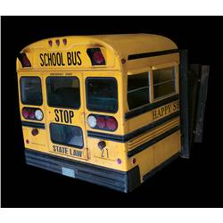 School bus filming miniature from Trick r' Treat