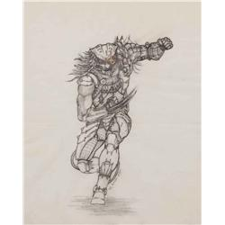 Conceptual artwork for the creature running from Predator