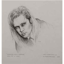 """Mark """"Crash"""" McCreery concept drawing of Brad Pitt as """"Louis"""" from Interview with the Vampire"""