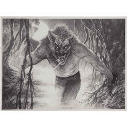 Stan Winston Studios conceptual artwork for werewolf character