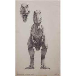 "Mark ""Crash"" McCreery conceptual artwork for T-Rex from Jurassic Park"