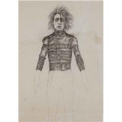 Conceptual artwork of Johnny Depp from Edward Scissorhands