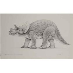 """Mark """"Crash"""" McCreary conceptual artwork for Baby Triceratops from Jurassic Park"""