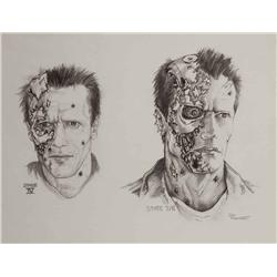 """Conceptual artwork for Arnold Schwarzenegger """"The Terminator"""" from T2: Judgment Day"""