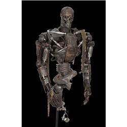 T-4: Salvation original screen-used full-scale battle damaged model T-600 Endoskeleton