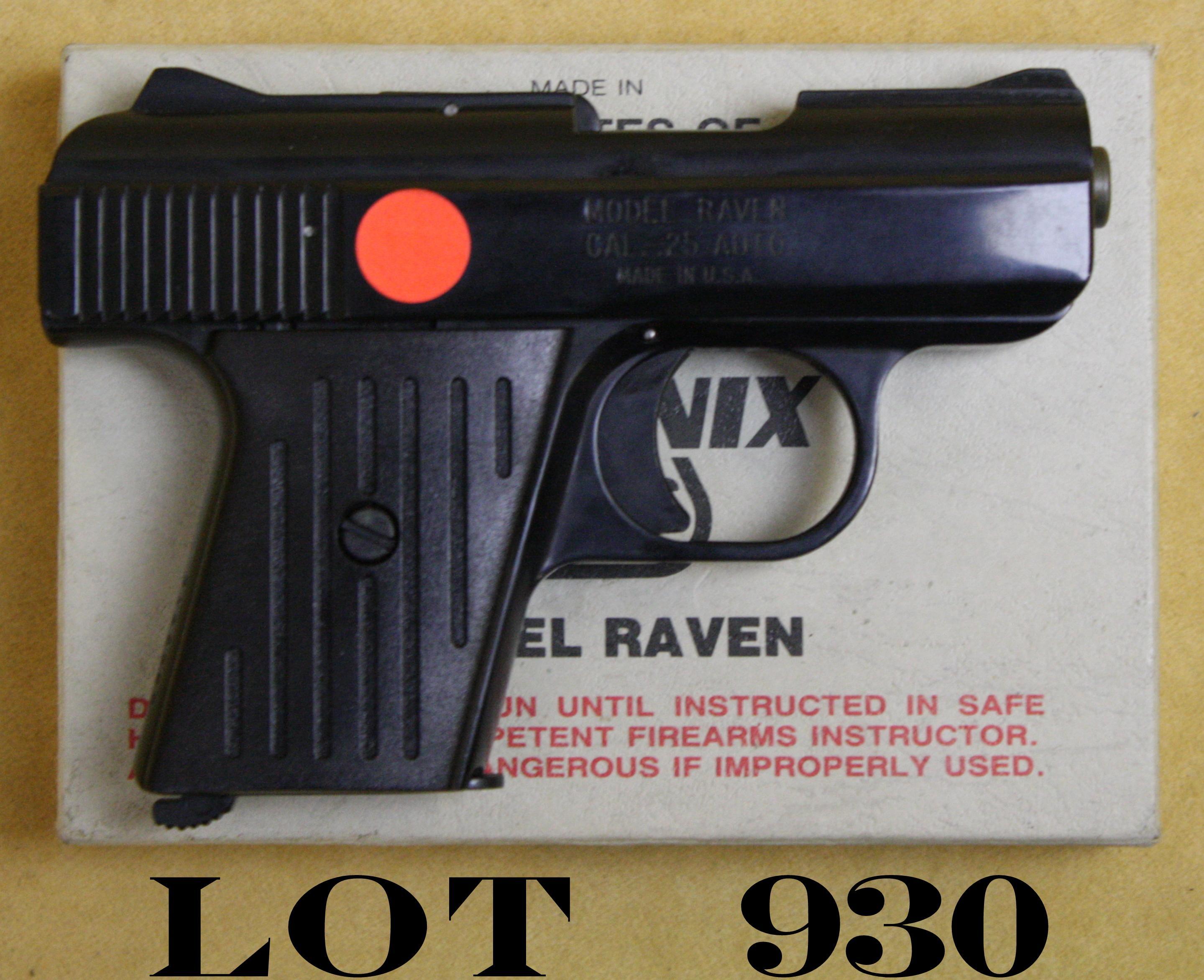 Phoenix Arms Raven Model semi-auto pocket pistol,  25 cal