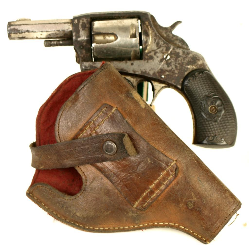 American Bulldog Revolver 38 Cal With Leather Holster Action Needs