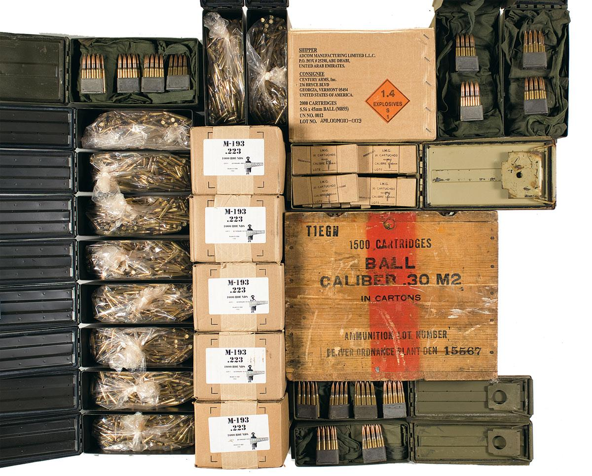 Massive Lot of 5 56x45 and  30-06 Ammunition