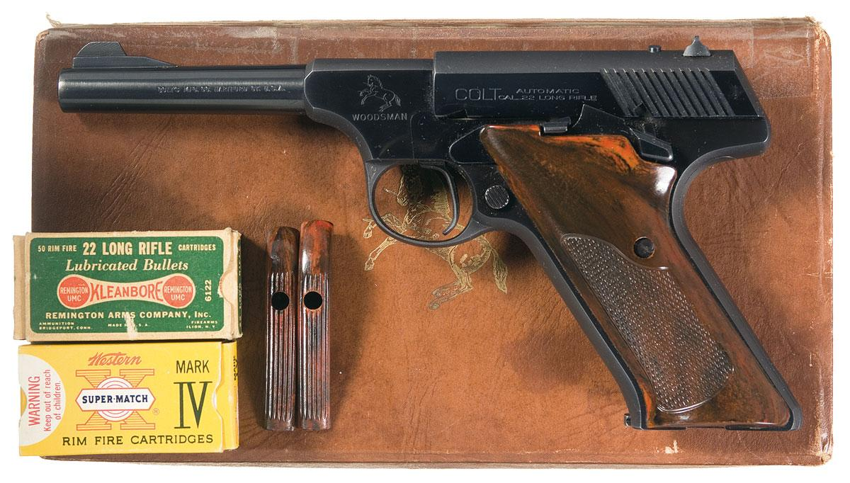 Colt Woodsman Sport Second Series Semi-Automatic Pistol with Box and  Ammunition